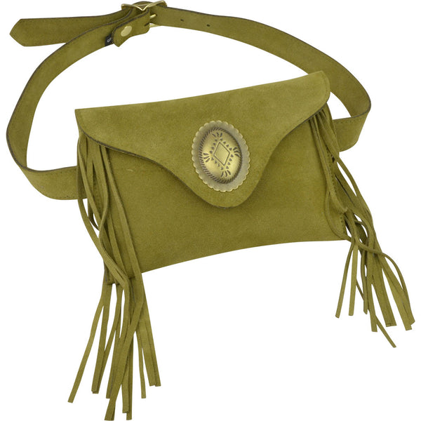 Georgie Belt Bag Avocado Suede
