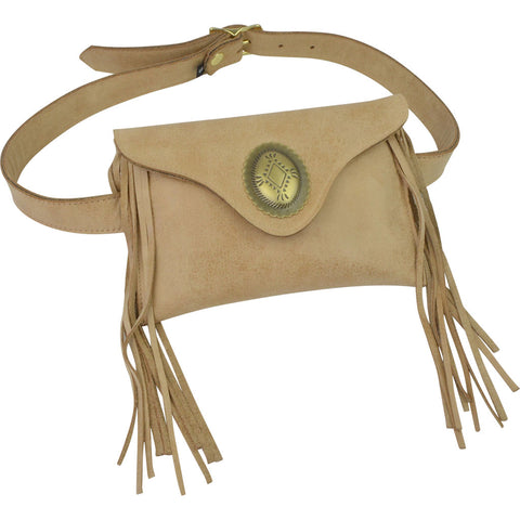 Georgie Belt Bag Nubuck Hardrock Antique Brass