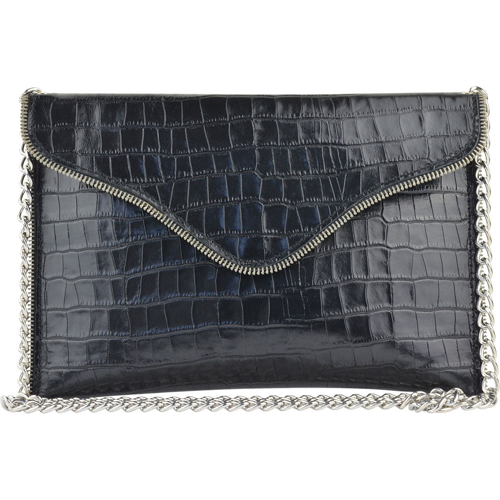 Beau Crossbody Black Alligator