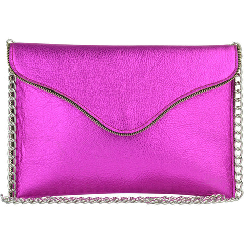 Beau Crossbody Hot Pink Metallic
