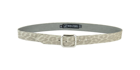 Mini Kylie Silver Leopard Belt