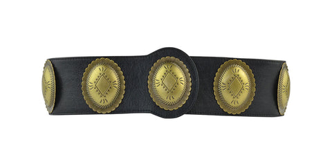 Clovis Corset Belt Black Lamba Antique Brass
