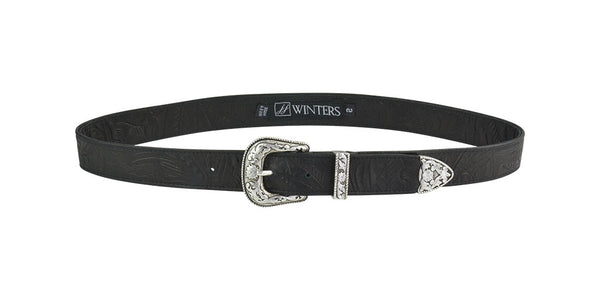 Bloom Belt Black Floral