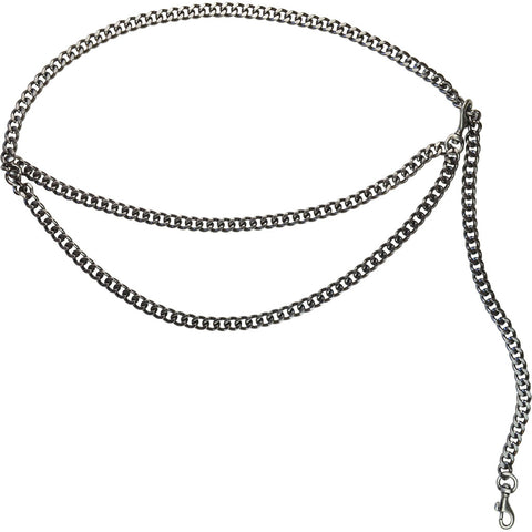 Ciara Chain Belt Gunmetal
