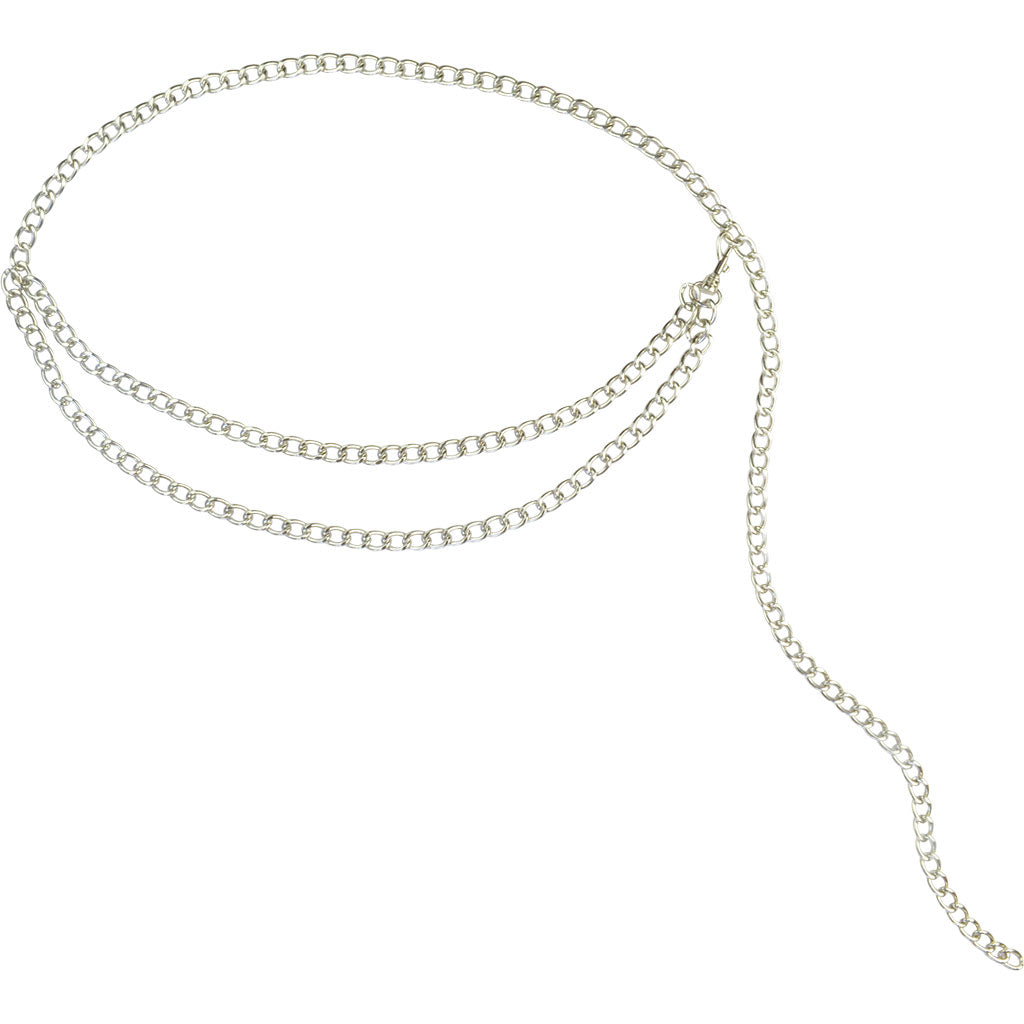 Ciara Chain Belt Silver