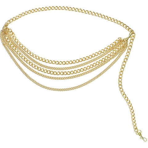 Charlie Chain Belt Gold
