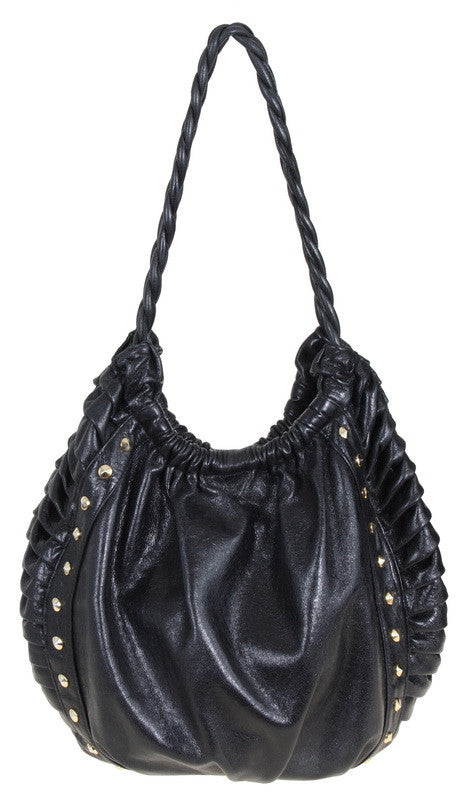 Haylie Tote Black Distressed Leather