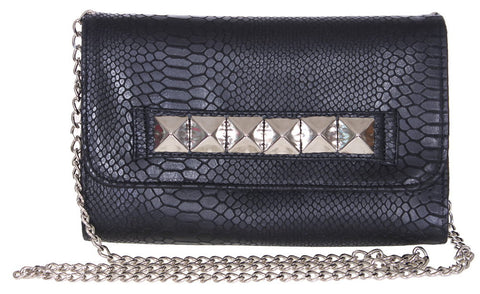 Kyle Chain Clutch Black Cobra