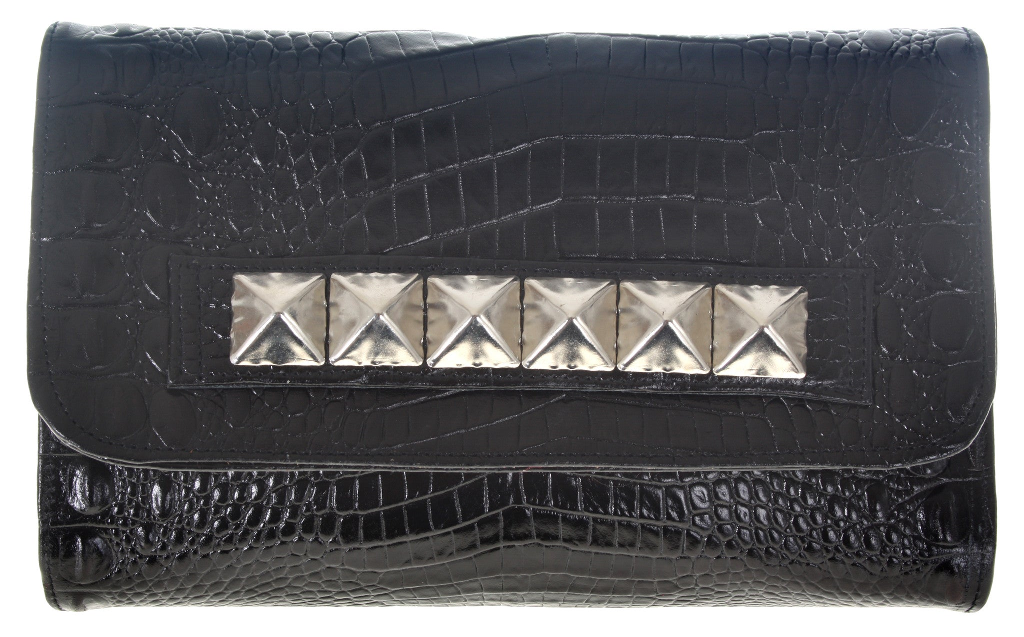 Kyle Clutch Black Croco