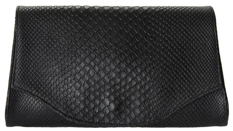 Alexa Clutch Black Boa