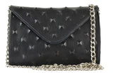 Hilary Mini Chain Clutch Black Pyramid
