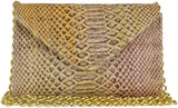 Hilary Mini Chain Clutch Multi Snake