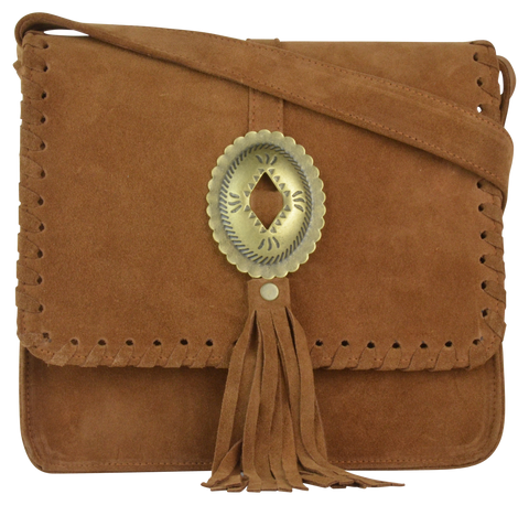 Rust Suede/Antique Brass Concho