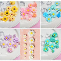 11pcs Daisy Flower Slime Accessories