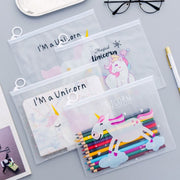 Transparent Unicorn Pencil Case