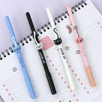 4pcs Cats Gel Ink Pen School Supplies