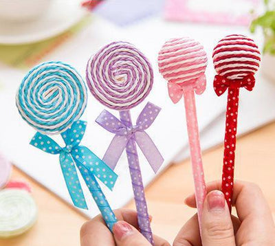 5Pcs/Set Cute Lollipop Ballpoint Pen