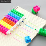 Lego Design Marker Pens Different Colors Pen