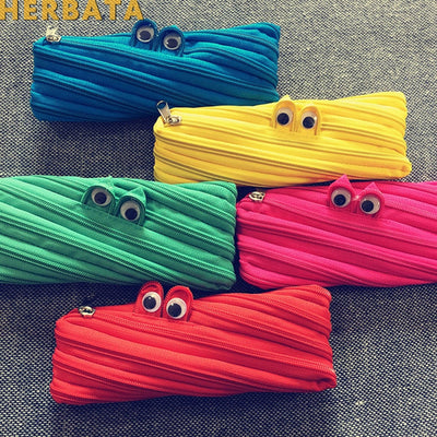 1pc Zipper Monsters Pencil Bag
