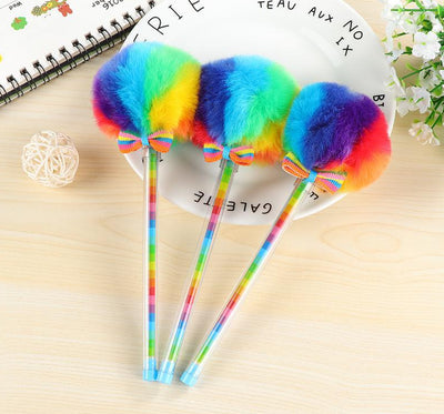 Rainbow Plush Gel Ink Pen