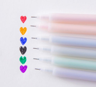 6pcs Color Gel Pen School Supplies