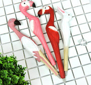 Wood Flamingo Ball Pen School Supplies