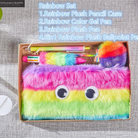 Rainbow Pencil Case Set