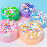 Cute Foam Beads Crunch Slime
