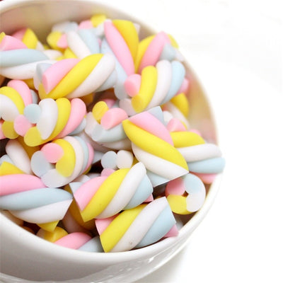 10pcs Marshmallows Slime Accessories