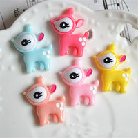 7pcs Cute Sika Deer Slime Charms