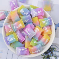 8pcs Rainbow Candies Slime Accessories