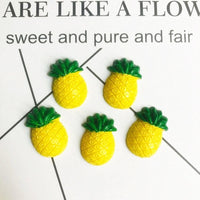 10pcs Mini Pineapple Slime Accessories