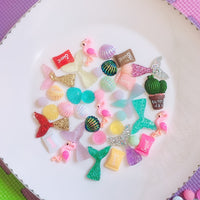 30pcs Assorted Charms Slimes Accessories