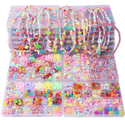 Girl Educational Toys Handmade Jewelry Making Beads Kit Set