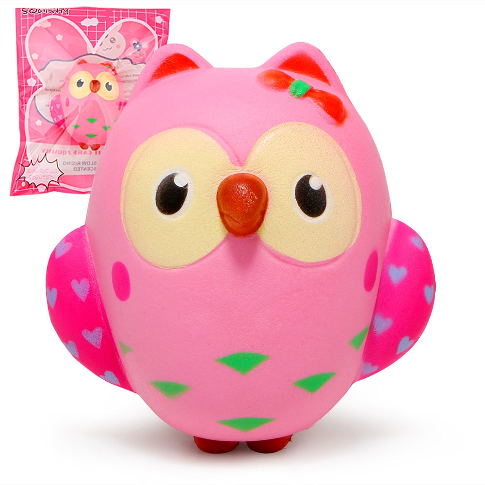 Slow Rising Pink Owl Scented Squishies