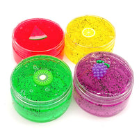 Clear Fruits Squishies Mud Scented Slime