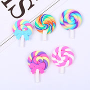 2pcs Colorful Lollipop Slime Accessories