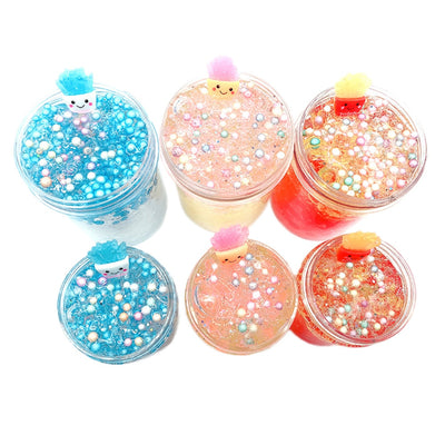 Non Toxic Cartoon Chips Foam Mud Scented Slime