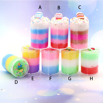 120ml Colorful Ice Cream Cloud Slime