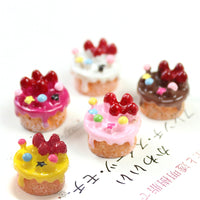 10pcs Strawberry Cake Slime Accessories