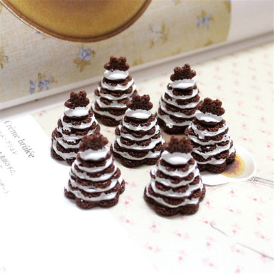 5pcs Chocolate Cake Slime Accessories