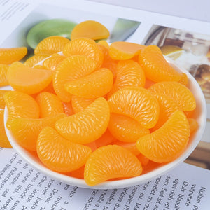 10pcs Orange Mud Slime Accessories