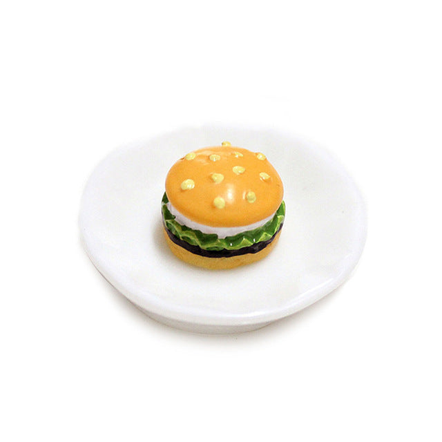 Mini Hamburger Charms Filler Slime Accessories