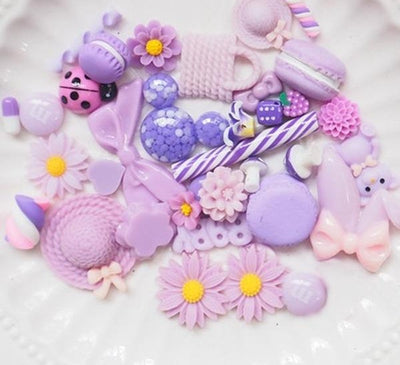 Purple Charms  for Slime Decorations