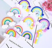 10pcs Rainbow Charms Slime Accessories