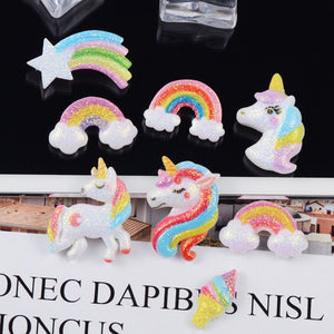 10pcs Unicorn Charms Slime Accesories