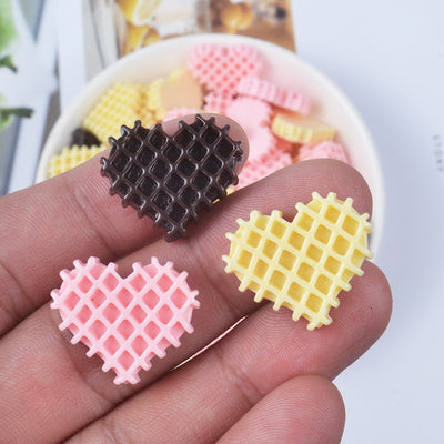 10pcs Mini Biscuits Slime Accessories
