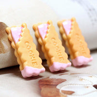 6pcs Strawberry Cookies Slime Accessories