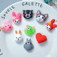 12pcs Cartoon Silica Slime Accessories