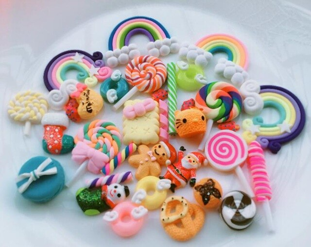 30pcs Colorful Candy Clouds Slime Accessories